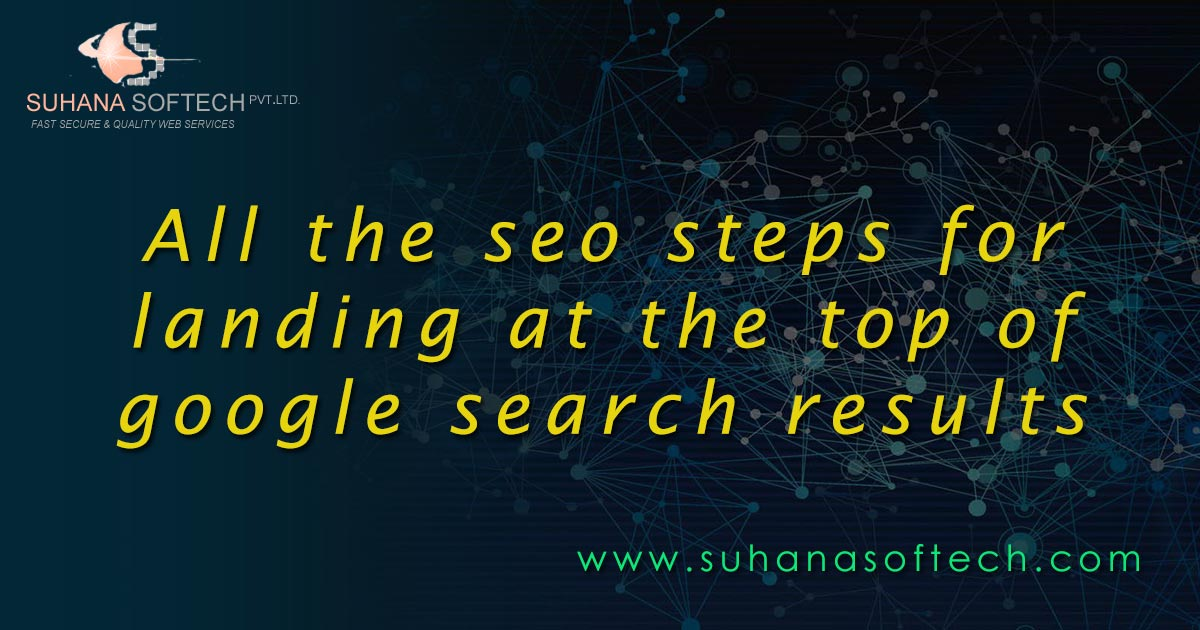 SEO steps for higher ranking